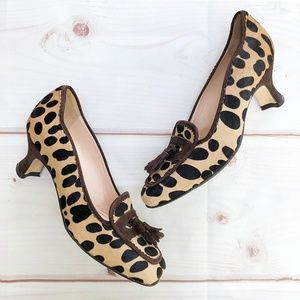 Anyi Lu | Italian Calf Hair Heeled Loafers